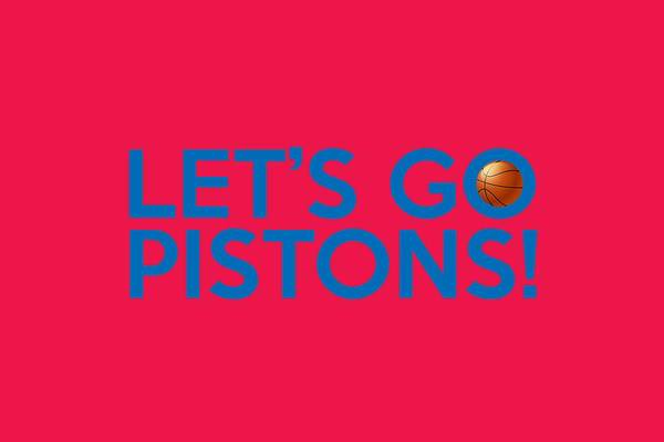 Painting - Let's Go Pistons by Florian Rodarte