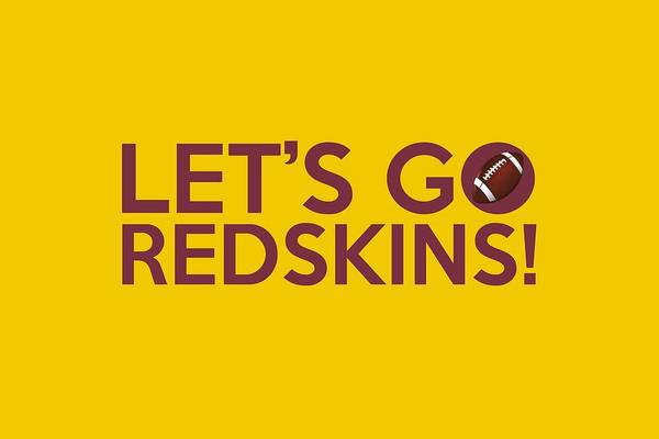 Painting - Let's Go Redskins by Florian Rodarte