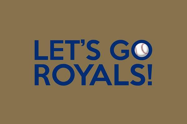 Kansas City Royals Wall Art - Painting - Let's Go Royals by Florian Rodarte