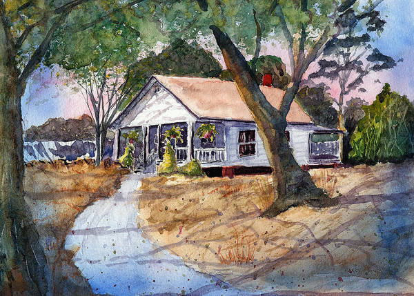 Drawing - Let's Go To Grandma's - Watercolor by Barry Jones