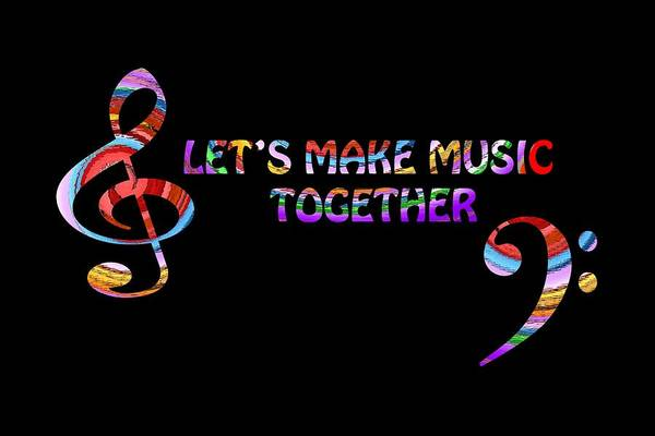 Digital Art - Let's Make Music Together by Gill Billington