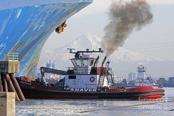 Port Of Vancouver Wall Art - Photograph - Let's Move by Marland Howard