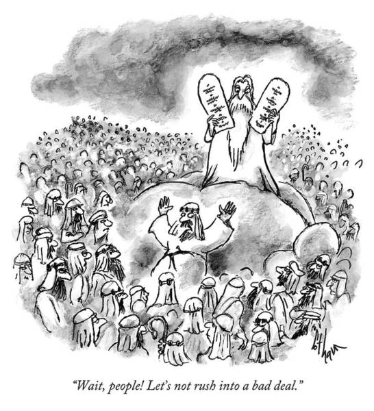 Spectator Drawing - Lets Not Rush Into A Bad Deal by Frank Cotham