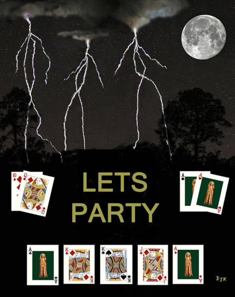 Macau Mixed Media - Lets Party Poker Cards by Eric Kempson
