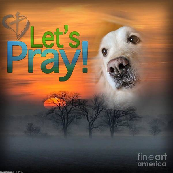 Digital Art - Let's Pray by Kathy Tarochione