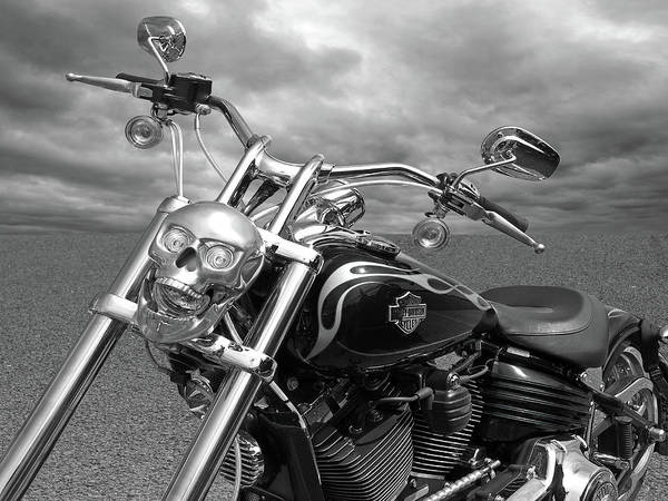 Photograph - Let's Ride - Harley Davidson Motorcycle by Gill Billington