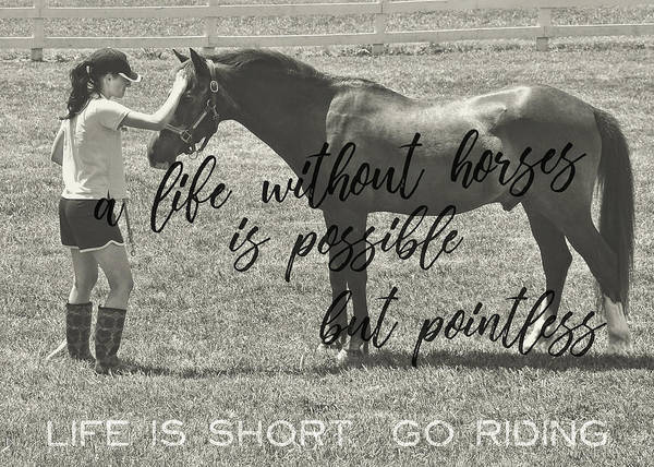 Let's Ride Quote Art Print