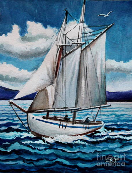 Painting - Let's Set Sail by Elizabeth Robinette Tyndall