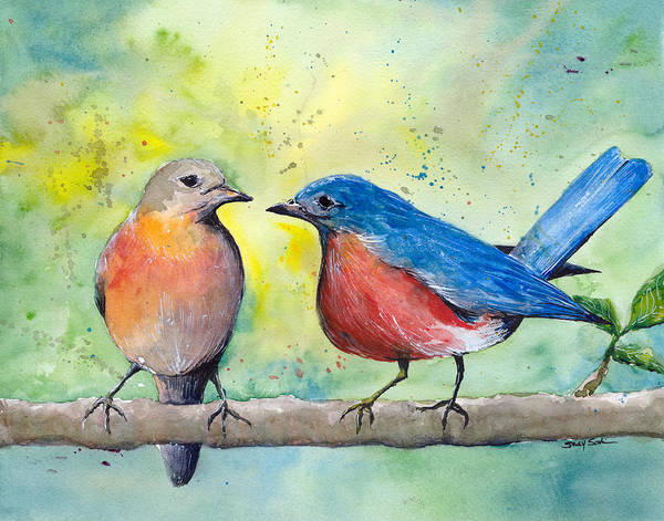Wall Art - Painting - Let's Talk by Susy Soulies