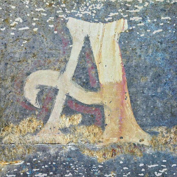 Letters Wall Art - Mixed Media - Letter A A La Monet by Carol Leigh