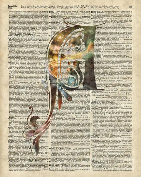 Wall Art - Digital Art - Letter A Monogram by Anna W