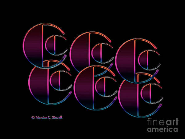Digital Art - Letter Art L5 - Cs by Monica C Stovall