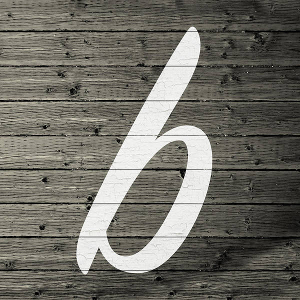 Letter Mixed Media - Letter B White Paint Peeling From Wood Planks by Design Turnpike