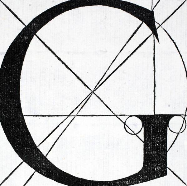 Decorative Drawing - Letter G by Leonardo Da Vinci