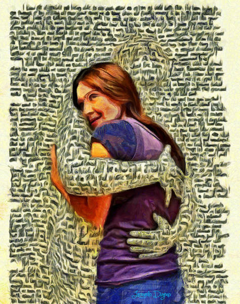 Similar Painting - Letter Hug by Leonardo Digenio