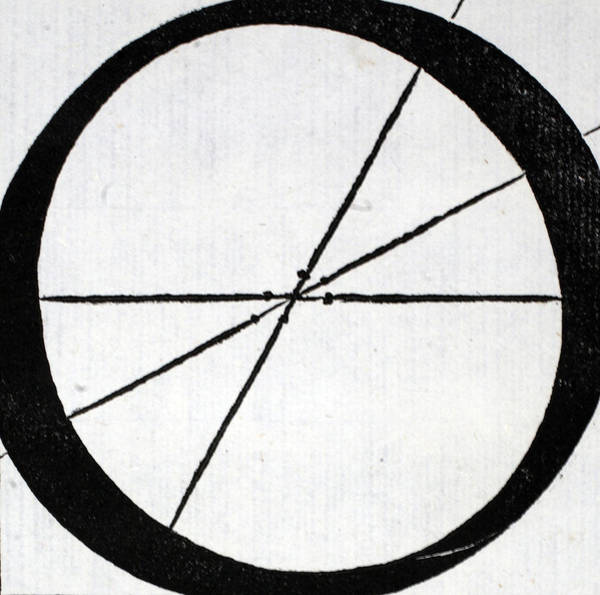Decorative Drawing - Letter O by Leonardo Da Vinci