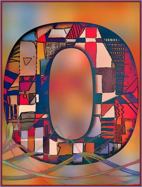 Wall Art - Digital Art - Letter O by Mindy Newman