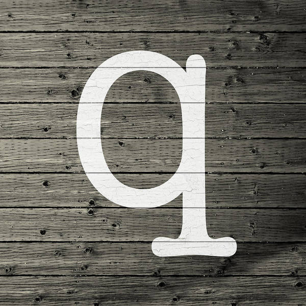 Letter Mixed Media - Letter Q White Paint Peeling From Wood Planks by Design Turnpike