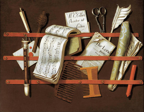 Painting - Letter Rack  by Edward Colier