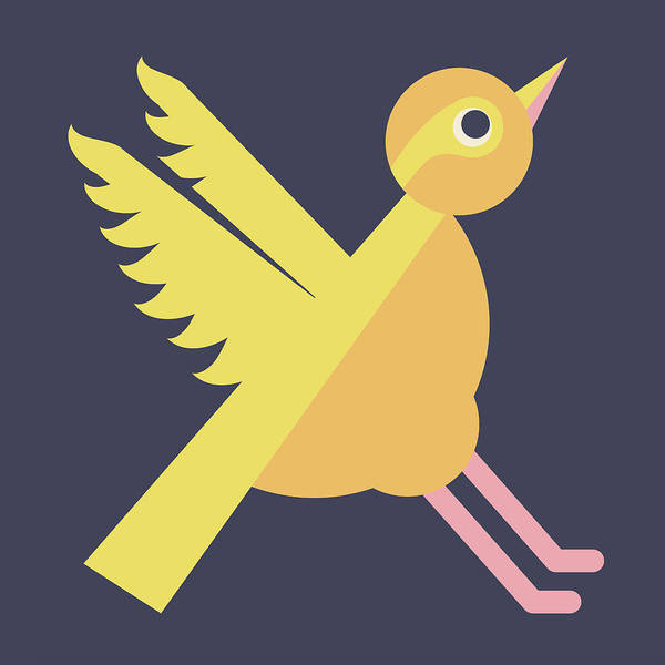 Digital Art - Letter X - Animal Alphabet - Xenops Monogram by Jen Montgomery
