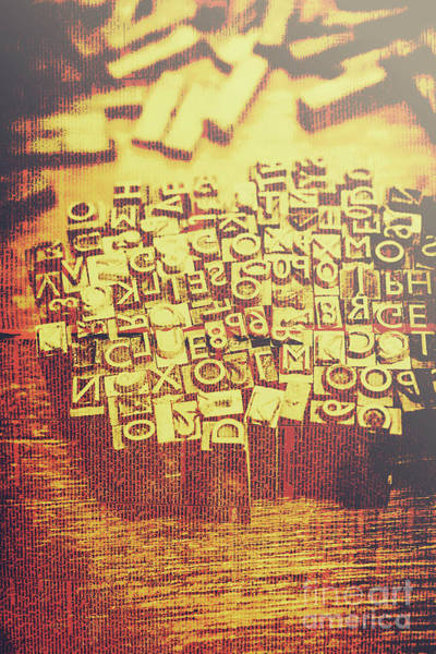 Block Photograph - Letterpress Industrial Pop Art by Jorgo Photography - Wall Art Gallery