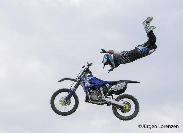 Dirt Bike Photograph - Letting Go by Jurgen Lorenzen