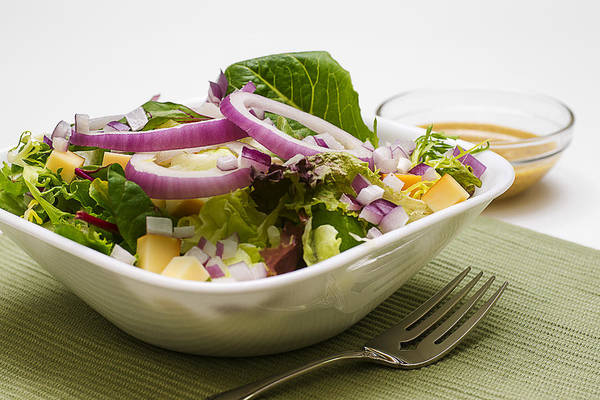 Salad Dressing Photograph - Lettuce  Salad With Mustard Vinaigrette Dressing by Donald  Erickson