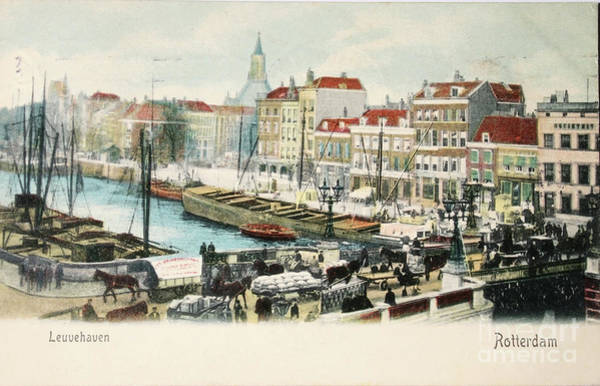 Wall Art - Photograph - Leuvehaven Rotterdam In 1909 by Patricia Hofmeester