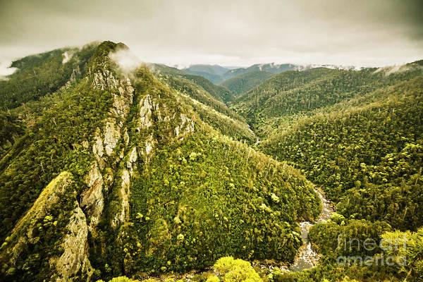 Mountain Range Photograph - Leven Canyon Reserve Tasmania by Jorgo Photography - Wall Art Gallery