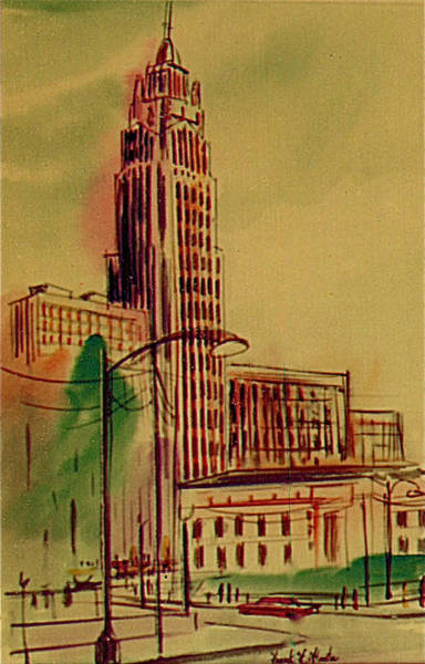 Painting - Leveq-lncoln Tower Columbus Ohio by Frank Hunter