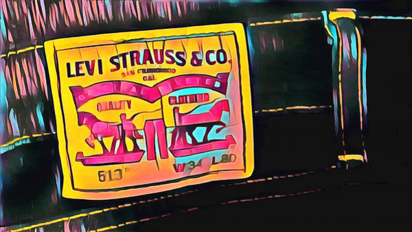 Digital Art - Levi Label Abstract by Floyd Snyder
