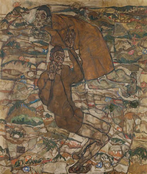 Austrian Painting - Levitation  by Egon Schiele