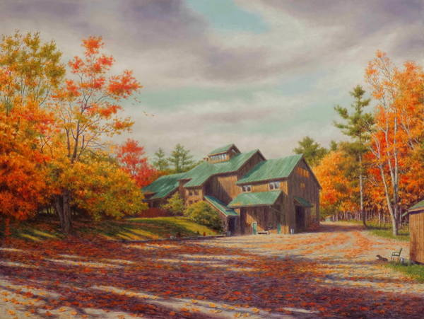 Barn Wall Art - Painting - Levon Helm Studios Legendary Ramble Barn by Barry DeBaun