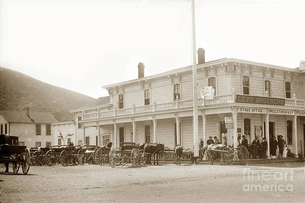 Photograph - Levy Brothers Store In Pescadero With Wells Fargo - Co., General by California Views Archives Mr Pat Hathaway Archives