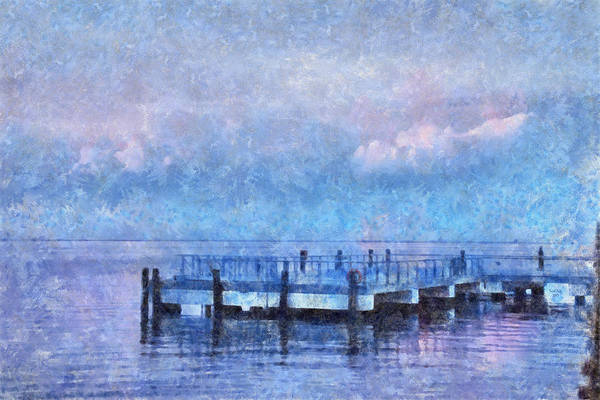 Mixed Media - Lewes Pier by Trish Tritz
