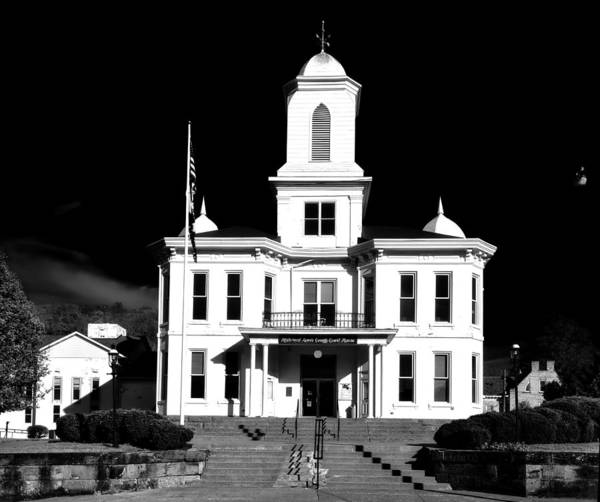 Weston Photograph - Lewis County Courthouse - Weston West Virginia by Mountain Dreams