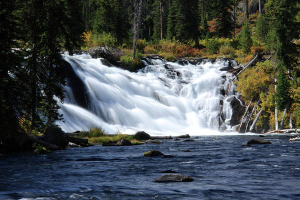 Photograph - Lewis Falls, Yellowstone, Wyoming by Aidan Moran