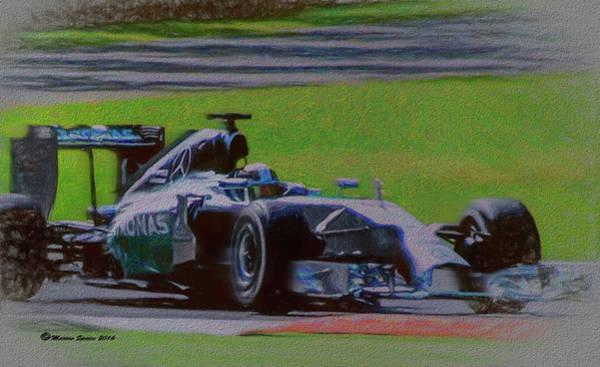 Speed Mixed Media - Lewis Hamilton by Marvin Spates
