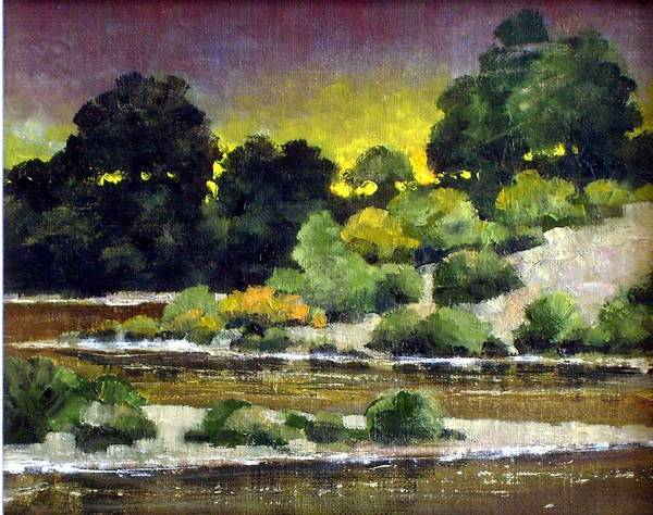 Painting - Lewis River At Woodland by Jim Gola