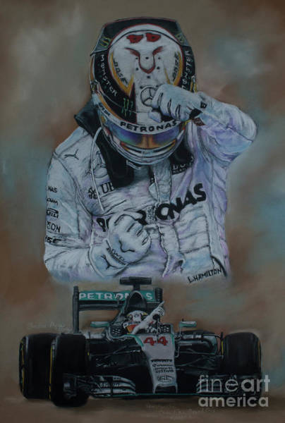 Forty Painting - Lewis Winning The Canadian Grand Prix 2015 by Christine Algie