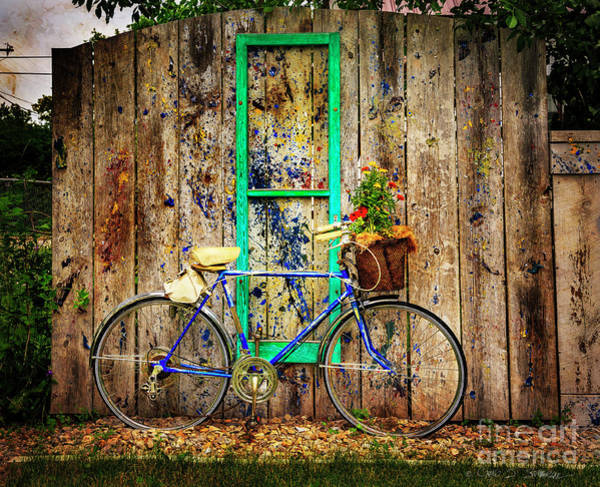Photograph - Lewistown Garden Bicycle by Craig J Satterlee