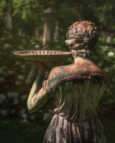 Statue Photograph - Lexington Bird Lady by Tom Mc Nemar