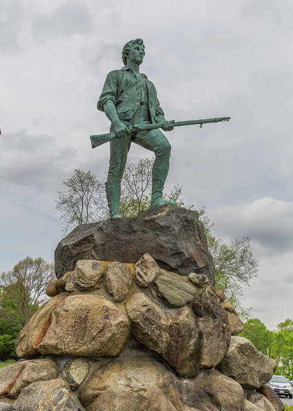 Photograph - Lexington Minute Man Statue by Brian MacLean