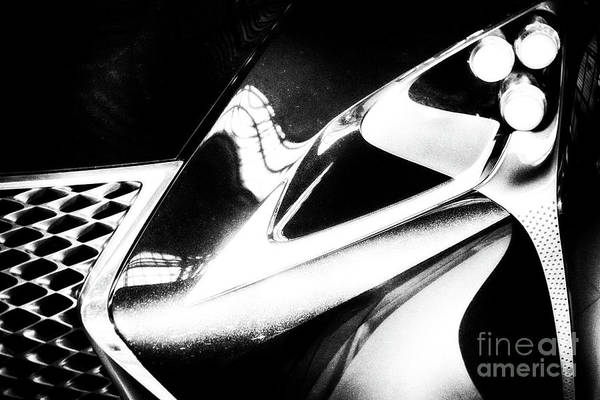 Carbon Fiber Photograph - Lexus Bw Abstract by Tom Gari Gallery-Three-Photography
