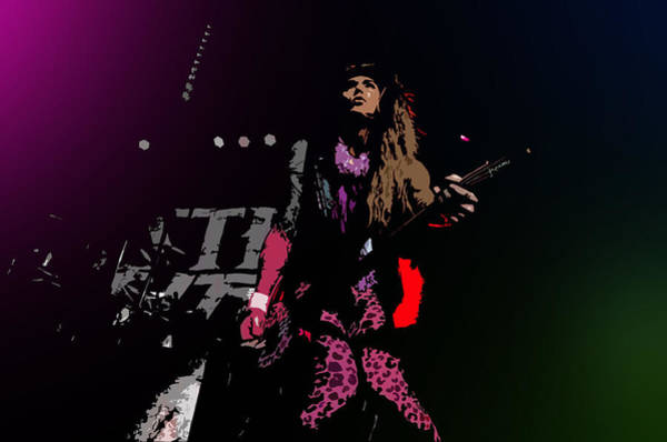 Glam Rock Digital Art - Lexxi Foxx - Steel Panther by Suilean Dubha