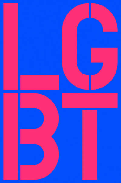 Lgbt Painting - Lgbt Blue And Pink by Three Dots