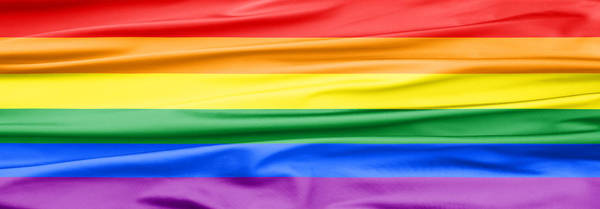 Gay Pride Flag Photograph - Lgbt Rainbow Banner by Semmick Photo