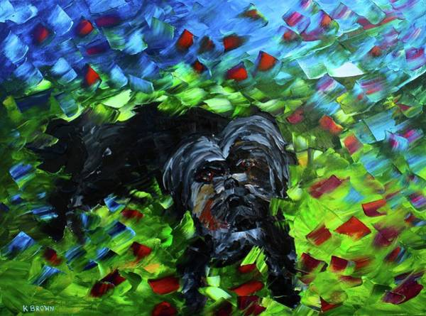 Painting - lhasa Apso by Kevin Brown