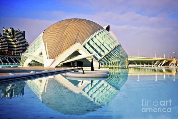 Wall Art - Photograph - L'hemisferic Revisited - Valencia by Mary Machare