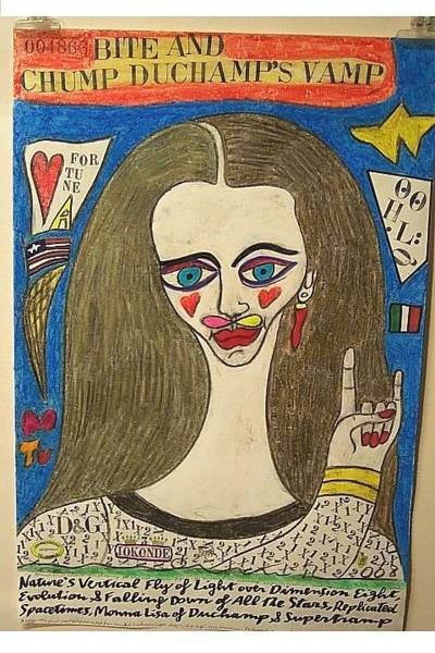 Wall Art - Painting - L.h.o.o.q. Monna Lisa by Francesco Martin